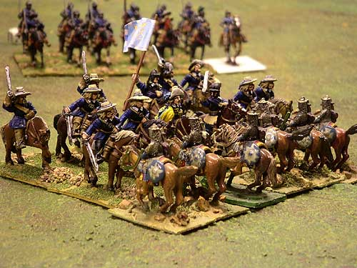 The Polish cavalry about to be defeated...